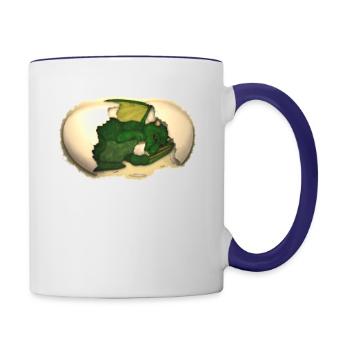 The Emerald Dragon of Nital - Contrast Coffee Mug