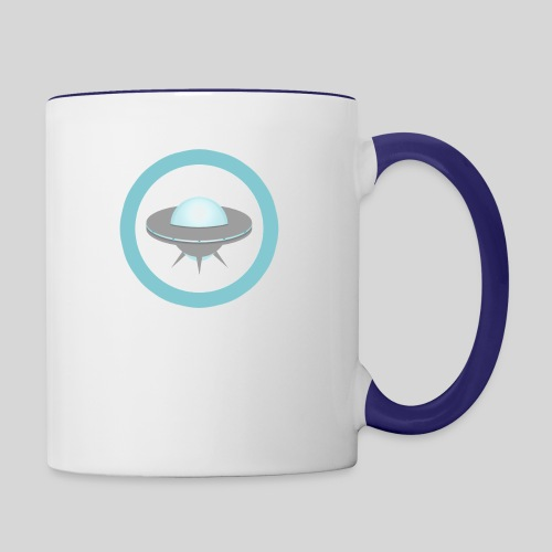 ALIENS WITH WIGS - Small UFO - Contrast Coffee Mug