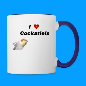 Cockatiels - Contrast Coffee Mug