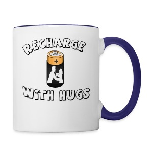 Recharge with hugs - Contrast Coffee Mug