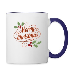 Merry Christmas - Contrast Coffee Mug
