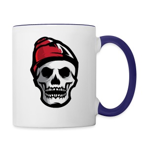 Custom Skull With Ice Cap Merch! - Contrast Coffee Mug