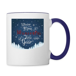 Winter Theme - Contrast Coffee Mug