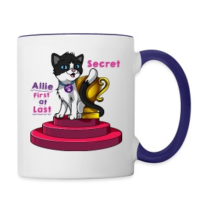 Allie, First at Last - Secret Cat with Trophy - Contrast Coffee Mug