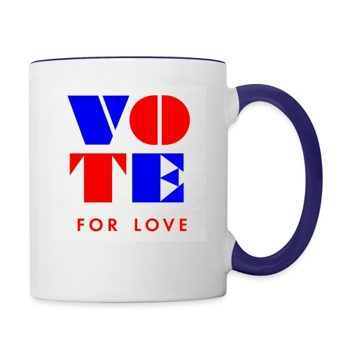 vote4love-sample - Contrast Coffee Mug