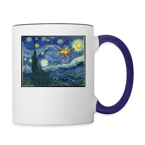 Starry Night Drone - Contrast Coffee Mug