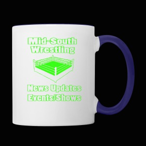 Mid-South Wrestling News Neon/Lime Green - Contrast Coffee Mug
