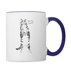 Pet me Human - Contrast Coffee Mug