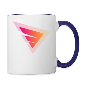 Logo IteX with another background logo - Contrast Coffee Mug