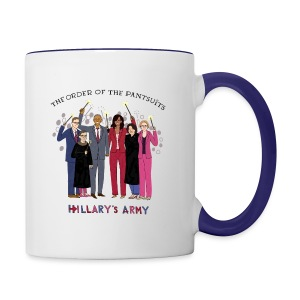 The Order of the Pantsuits: Hillary's Army - Contrast Coffee Mug