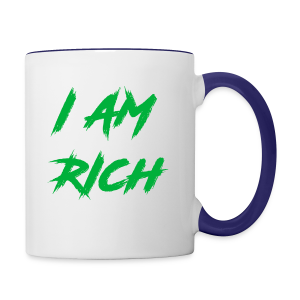 I AM RICH (WASTE YOUR MONEY) - Contrast Coffee Mug
