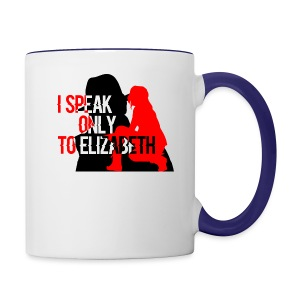 I speak only to Elizabeth : the blacklist tees - Contrast Coffee Mug