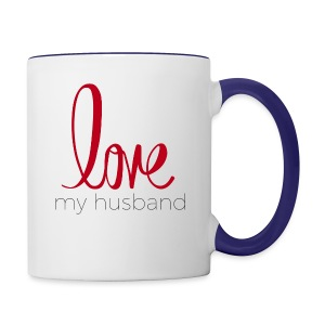 love my husband - Contrast Coffee Mug