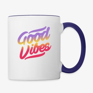 good vibes - Contrast Coffee Mug
