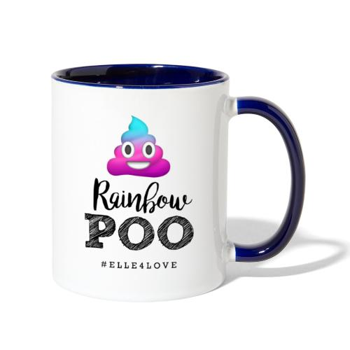 Rainbow Poo - Contrast Coffee Mug