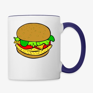 Comic Burger - Contrast Coffee Mug