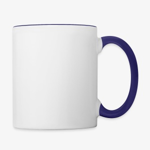 QuincyIsCrispy Text Logo (White) - Contrast Coffee Mug
