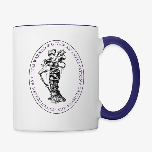 She Persisted Suffragette Premium - Contrast Coffee Mug