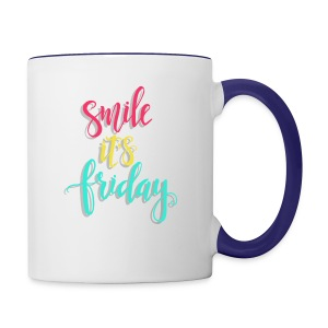 Smile its Friday - Contrast Coffee Mug