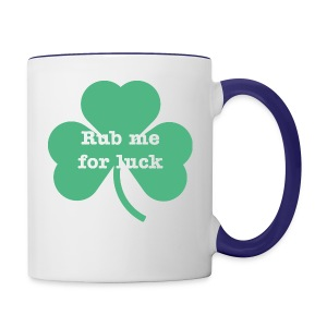 Rub me for luck - Contrast Coffee Mug