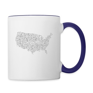 God is in America - Contrast Coffee Mug