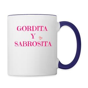 GORDITA Y SABROSITA - Contrast Coffee Mug