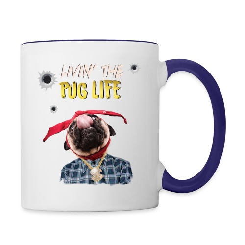 livin' the puglife - Contrast Coffee Mug