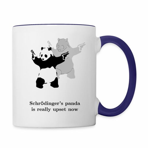 Schrödinger's panda is really upset now - Contrast Coffee Mug