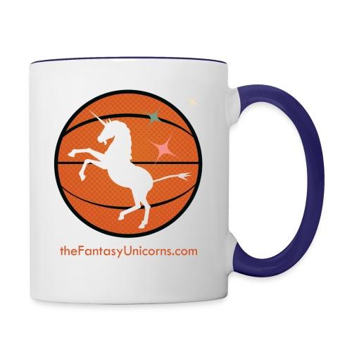 whiteunicornlogoversion2 01text - Contrast Coffee Mug