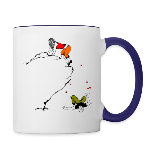 Lady Climber - Contrast Coffee Mug