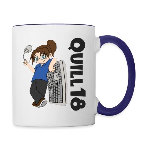 Quill18 Old School Logo - Contrast Coffee Mug