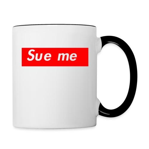 sue me (supreme parody) - Contrast Coffee Mug