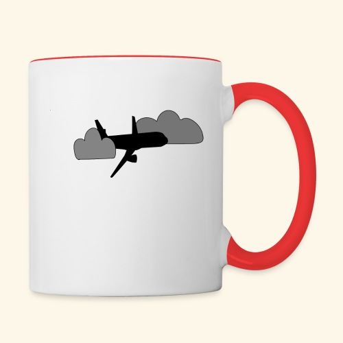 plane - Contrast Coffee Mug