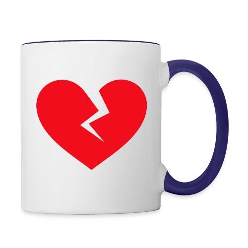 Broken Heart - Contrast Coffee Mug