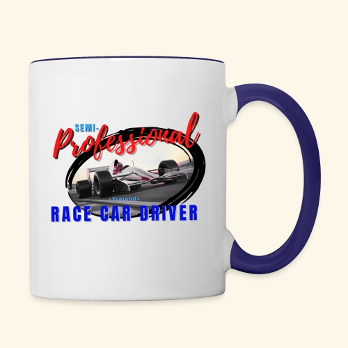 semi pro indy pretend race car driver - Contrast Coffee Mug