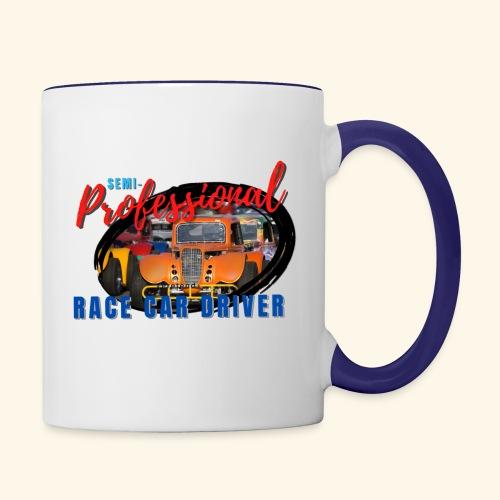 semi professional legends pretend race car driver - Contrast Coffee Mug
