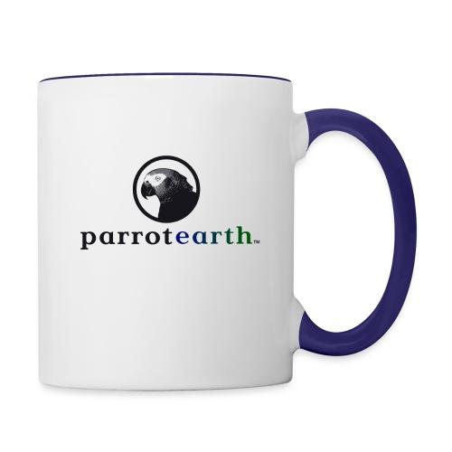 parrotearth logo3 gradienttm2 - Contrast Coffee Mug