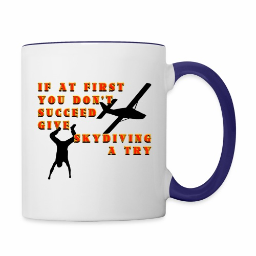 Try Skydiving - Contrast Coffee Mug