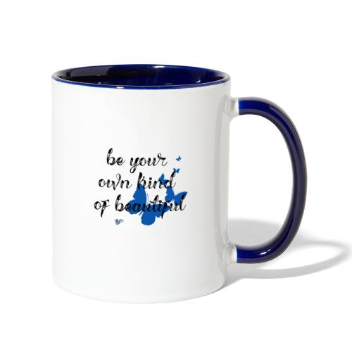 Be Your Own Beautiful_Blue - Contrast Coffee Mug