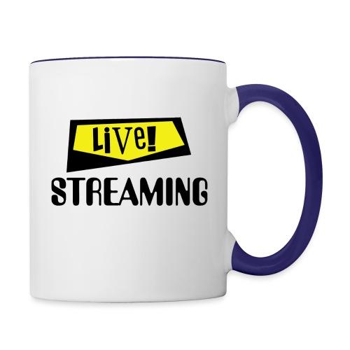 Live Streaming - Contrast Coffee Mug
