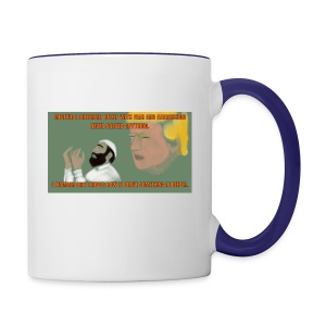 Aggression never solved anything - Contrast Coffee Mug