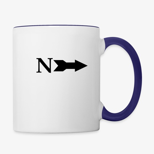 Narrow Logo Black - Contrast Coffee Mug