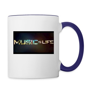 Music quote t-shirt - Contrast Coffee Mug
