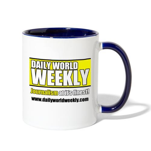 daily world weekly banner tagline web addy - Contrast Coffee Mug