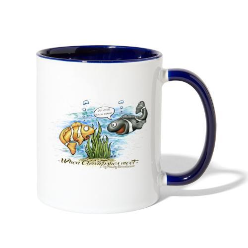 when clownfishes meet - Contrast Coffee Mug
