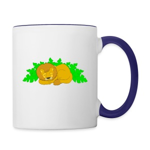 Sleeping Lion - Contrast Coffee Mug