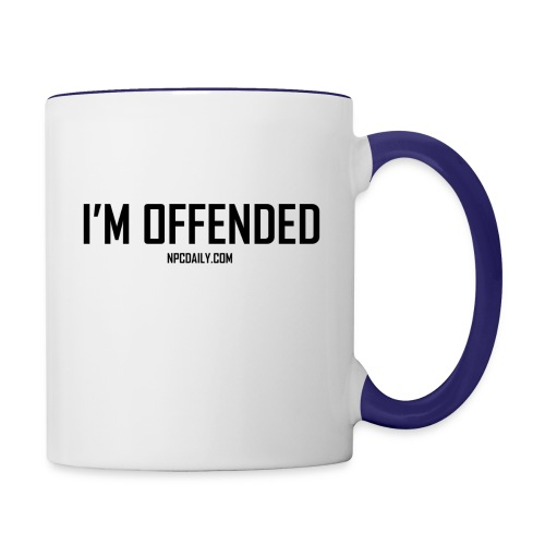 I m Offended but in Dark - Contrast Coffee Mug