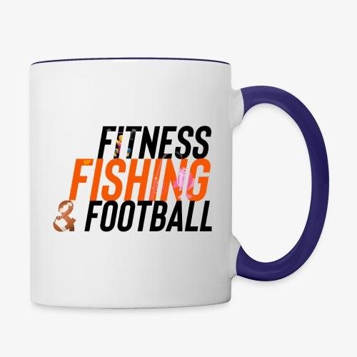 Fitness, Fishing & Football - Contrast Coffee Mug