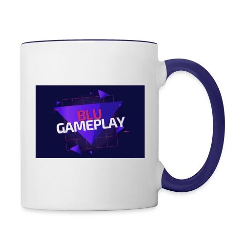Retro Blu Gameplay Left Handed - Contrast Coffee Mug