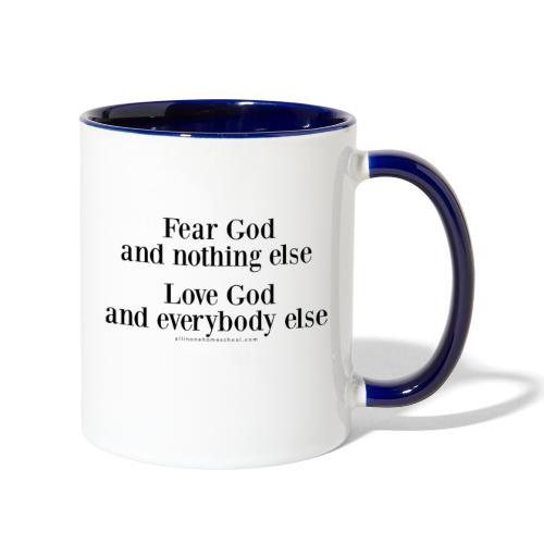 Fear God - Contrast Coffee Mug